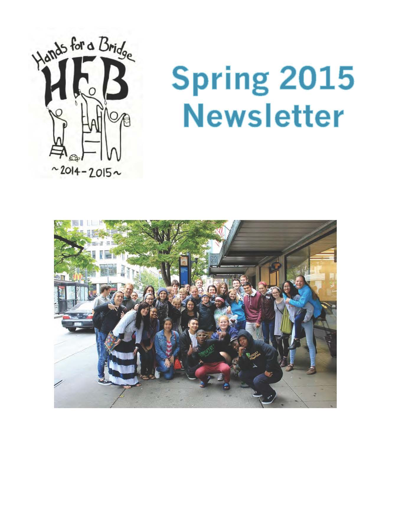 cover of Spring 2015 HFB Newsletter and link to full newsletter