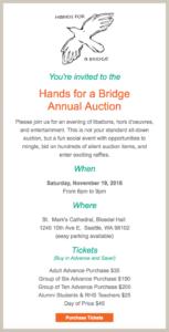 HFB 2016 auction invitation